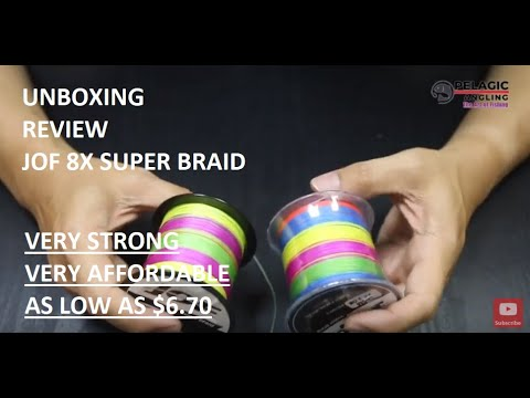 REVIEW: JOF 8X Multi Colored Braided Fishing Line | Unboxing