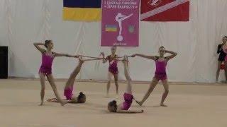 Групповые упражнения 5 скакалок Художественная гимнастика. Первенство ФСО