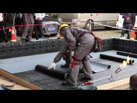 hot-welding installation know-how of waterproofing membrane SBS/APP --oriental yuhong