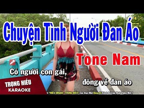 Karaoke Chuyện Tình Người Đan Áo Tone Nam Nhạc Sống   Trọng Hiếu