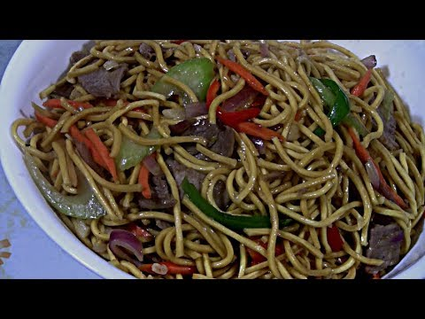 Cantonese Pork Chow Mein Easy Chinese Cooking Wok Stir