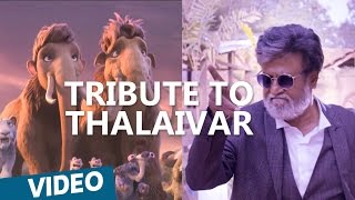 Kabali | Tribute To Thalaivar from Ice Age:5 gang | Rajinikanth | Pa Ranjith | Santhosh Narayanan