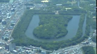 Daisen Kofun (Nintoku Kofun), the largest grave in the world by are...