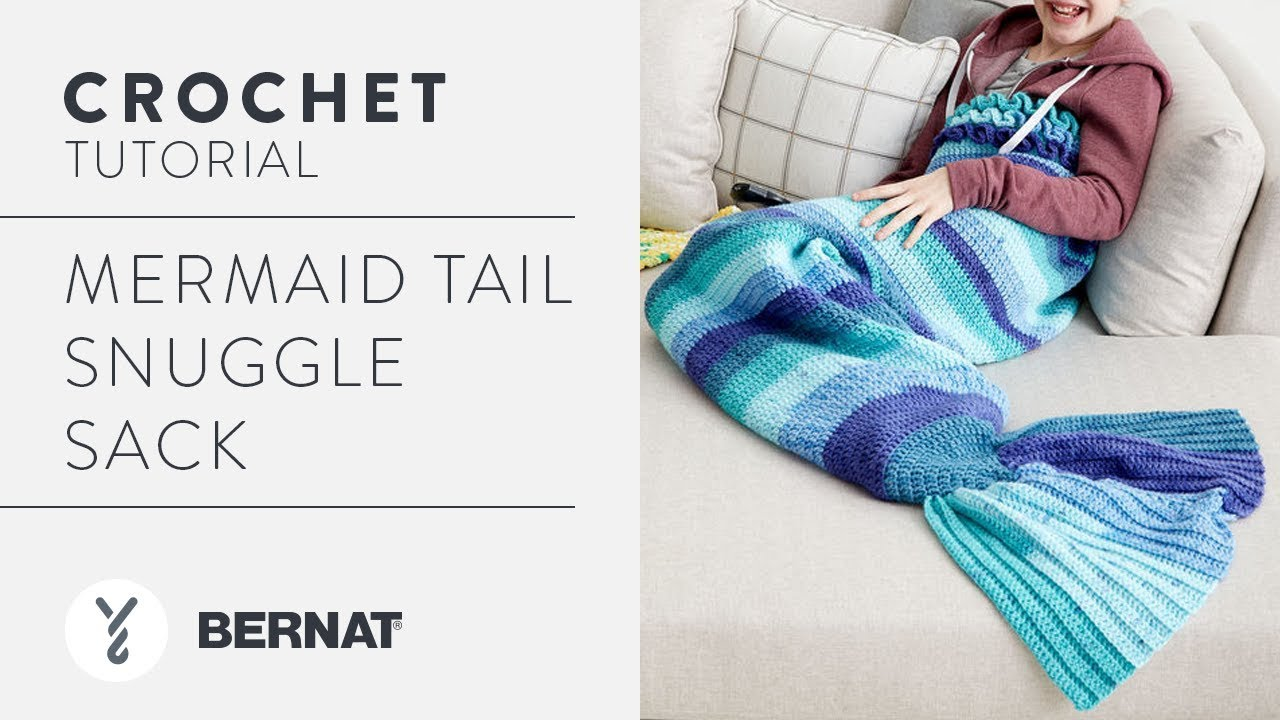 How to Crochet a Mermaid Tail Snuggle Sack - YouTube