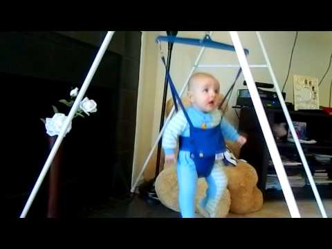 JOLLY JUMPER with stand  EXCITED BABY