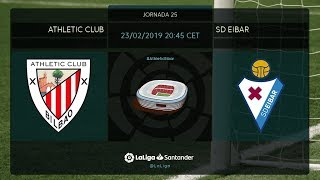 Calentamiento Athletic Club vs SD Eibar