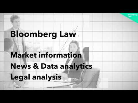 The One Solution You Need. Bloomberg Law.