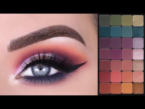Makeup Geek Matrix Color Eyeshadow Palette | Colorful Eye Makeup Tutorial
