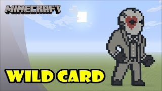 Minecraft: Pixel Art Tutorial: Wild Card (Hearts) (Fortnite Battle Royale)