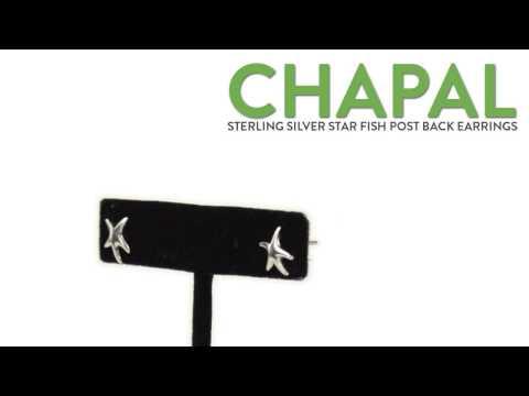 Chapal Sterling Silver Starfish Earrings
