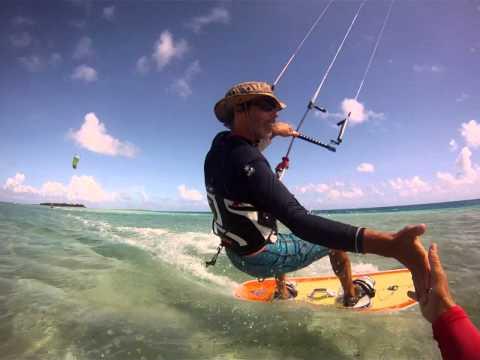 Kiting in the Tuamotus