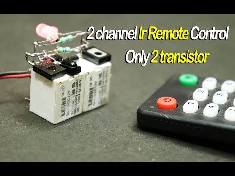 2 Channel Ir Remote Control Only 2 Transistor