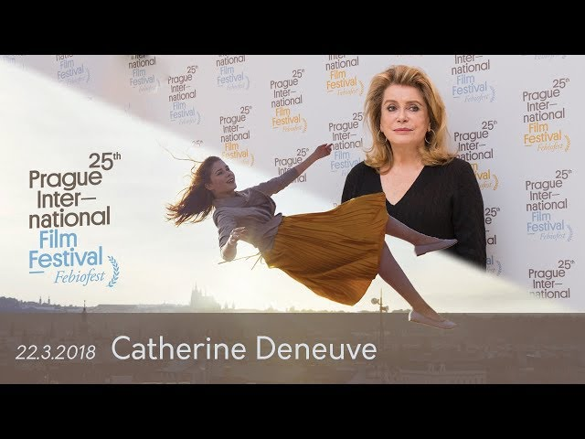 Catherine Deneuve | Tisková konference MMF Praha - Febiofest 2018