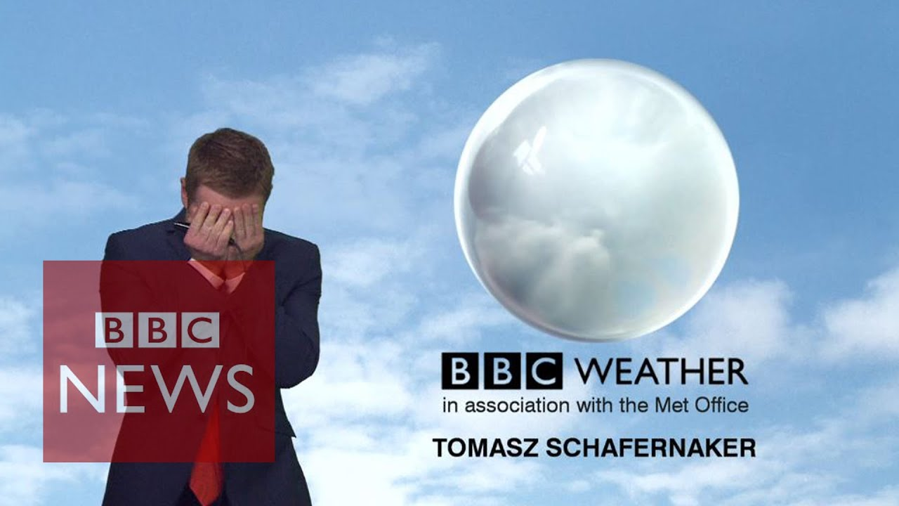 BBC News weatherman loses it live on-air but somehow 'makes' it through - BBC News