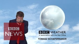 BBC News weatherman loses it live on-air but somehow
