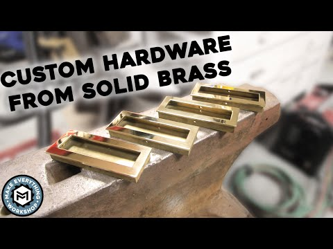 Making Solid Brass Drawer Pulls (Desktop Waterjet/ Mill)