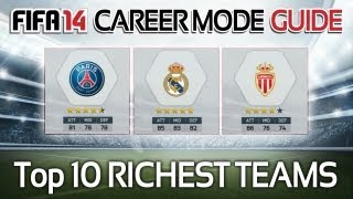 FIFA 14: The Richest Teams/Clubs in Career Mode! (Career Mode Guide #1)