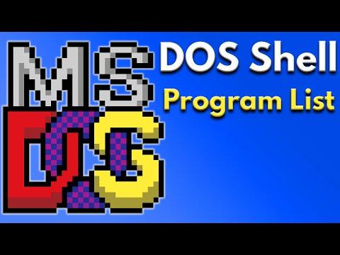 DOS PC Setup Tutorial - Dos Shell Program List