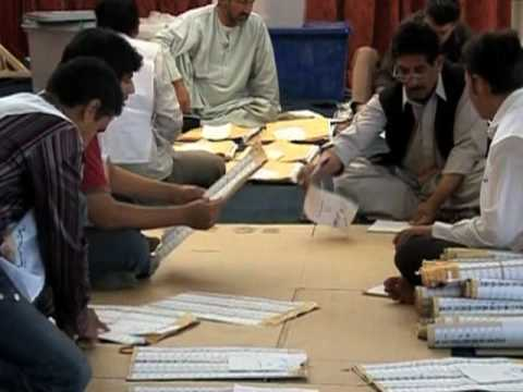 Afghan Election Officials Tabulating Presidential Vote