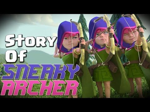 Clash of Clans Story - Where did the Sneaky Archer Come From? (Archer Queen Story Part 3) CoC Story