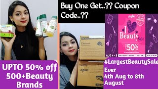 Purplle Haul I Heart Beauty Sale | Upto 50% OFF on Makeup & Skin Care COUPON CODE too |Sehers Corner