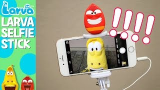 larva selfie stick - fun larva product - play with larva