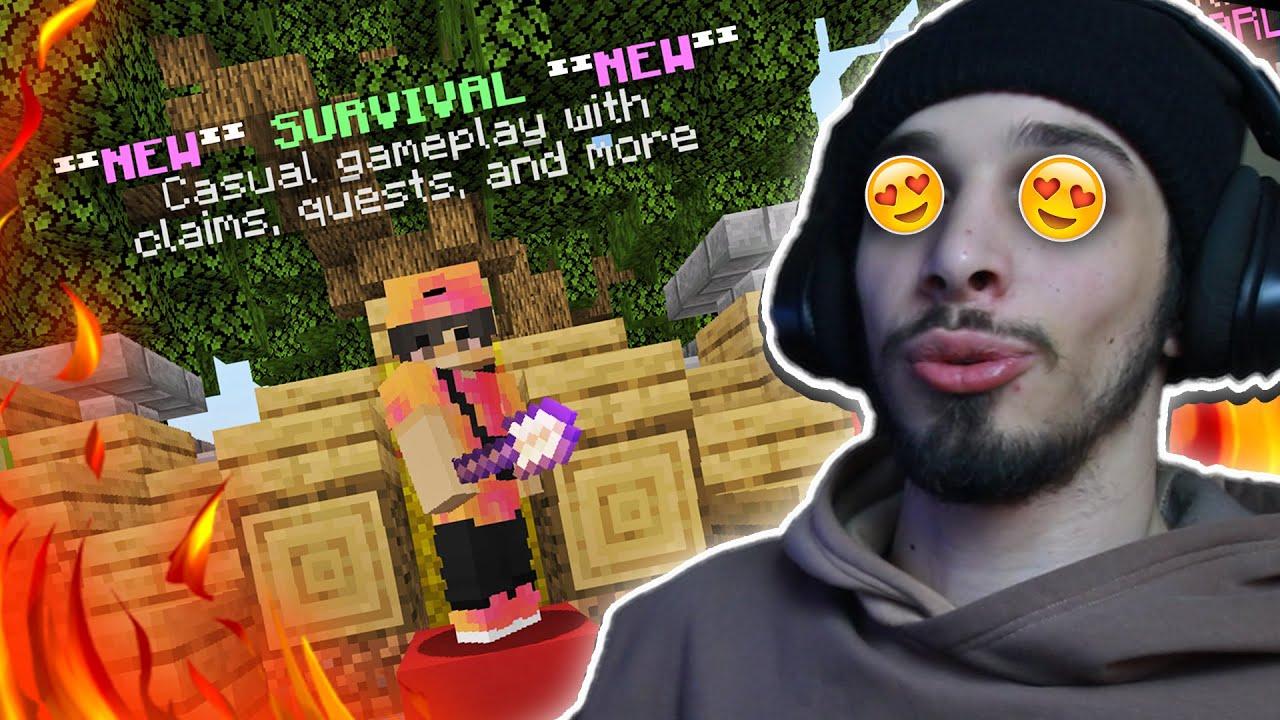 HARDCORE მალე იქნება!😂 Minecraft SURVIVAL ჩემს სერვერზე 🔴
