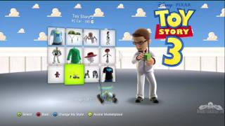 Toy Story 3 Xbox LIVE Avatar Clothes