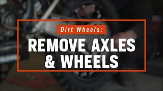 How To Remove Motorcycle Wheels | Dirt Bikes