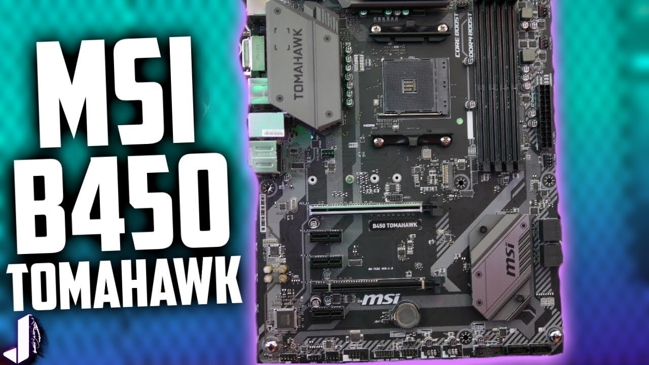 MSI Tomahawk B450 Motherboard First Look & More Computex 2018