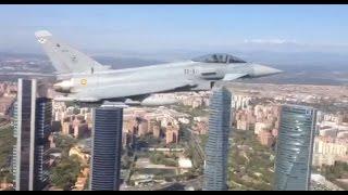 Eurofighter por Madrid Ejercito del Aire Español HD