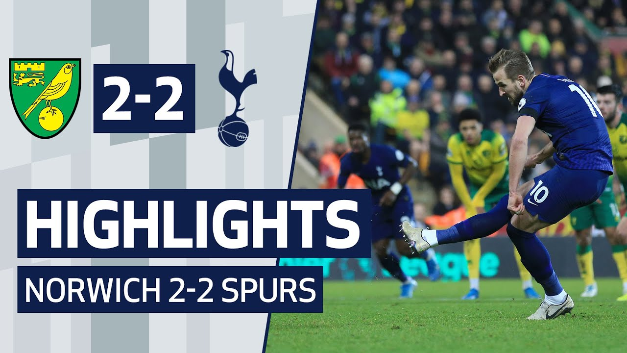 Highlights Norwich City 2 2 Spurs Youtube
