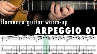 Flamenco Guitar Warm-up 03 - Arpeggio 1