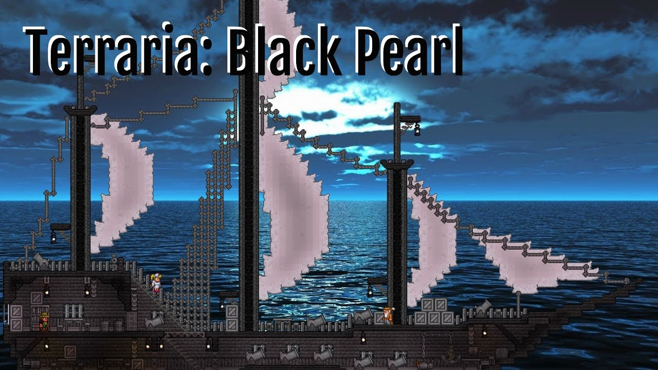 ☠️ Terraria Lets Build Black Pearl Pirate Ship ☠️ Youtube