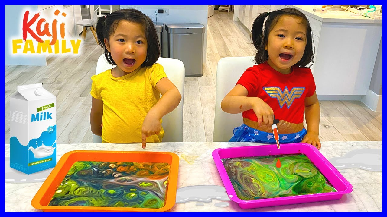 Easy DIY Science Magic Milk Experiment for Kids!!