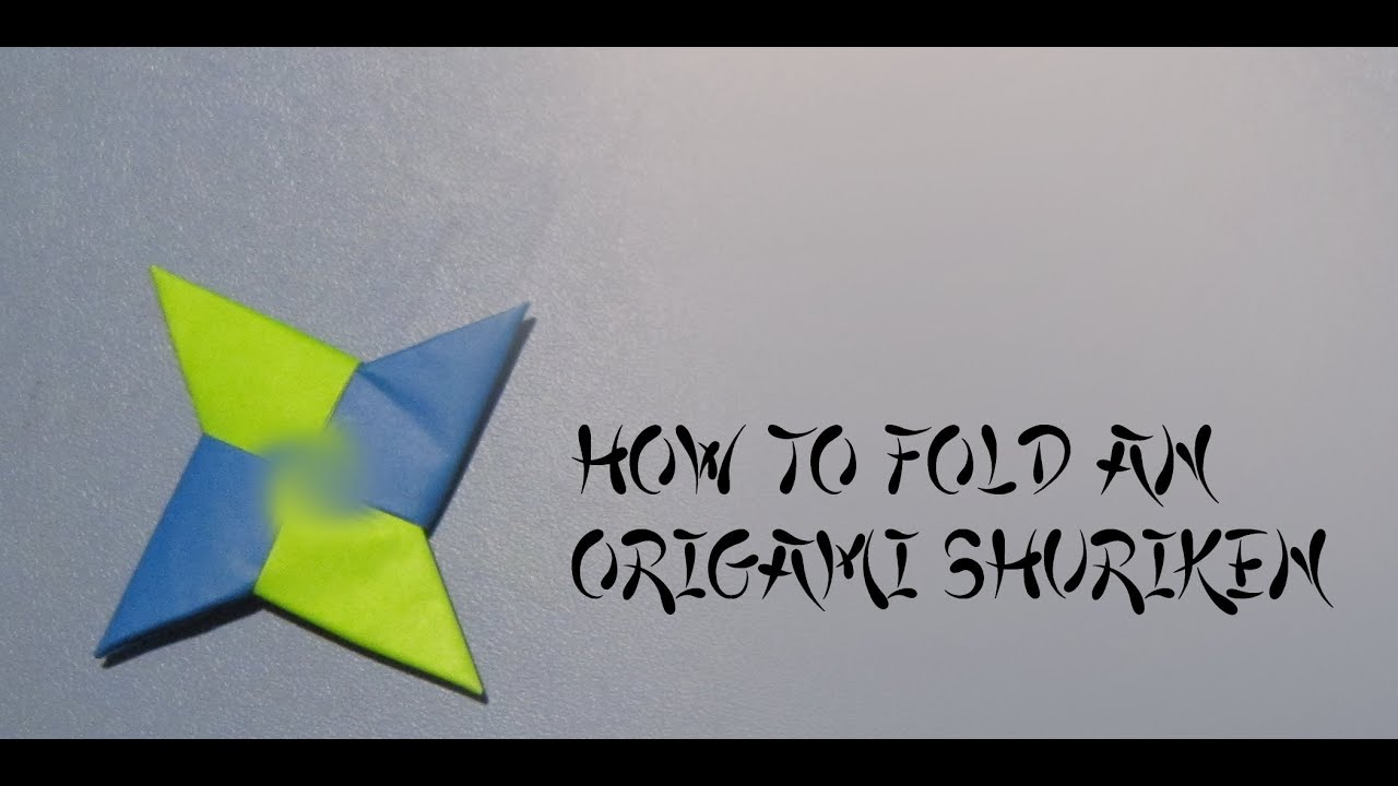 Fold an Origami Shuriken (Ninja Throwing Star) - YouTube - photo#20