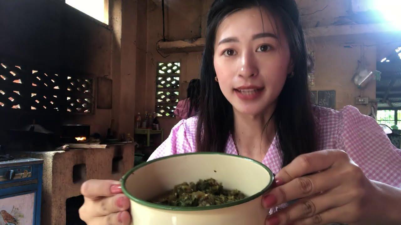 เตรียมอาหารเที่ยงให้พ่อกับแม่เฒ่าวันนี้นอนวัดค่ะ vlog-4