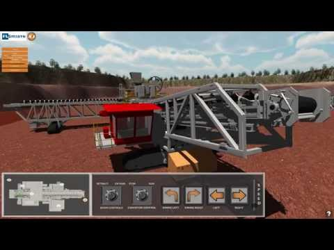 Sentient Computing FLSmidth Spreader Conveyor Simulation