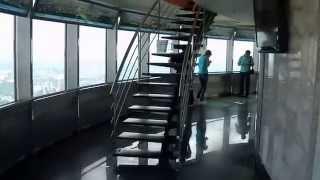 . Москва. Останкинская телебашня. Экскурсия(Посещение музея. Пассажирский лифт. Закрытая (застеклённая) смотровая площадка (337 м). Открытая смотровая..., 2012-09-04T23:01:18.000Z)