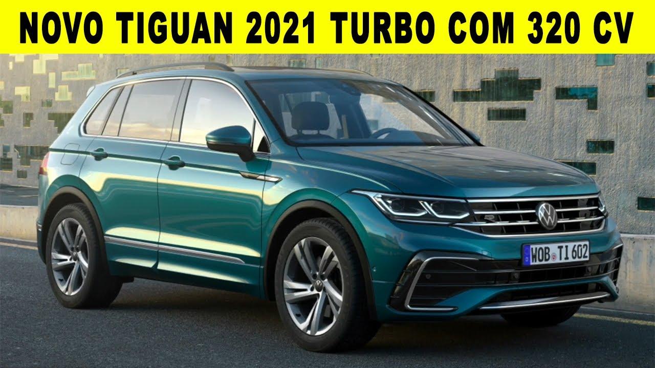 NOVO TIGUAN  2021 TURBO COM 320 CV E OUTRA VERSÃO HÍBRIDA COM 245 CV