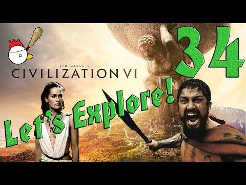 CIVILIZATION VI [ITA] Let's Explore 34# - QUESTA È SPARTAAAAA!