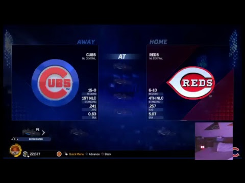 Chicago Cubs(15-0) (Hall of fame difficulty)(Twitch Channel: goat_of_my_league_justin)