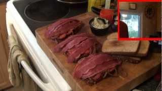 Dac Can Cook , Saute Of Braunschweiger(innovative Club Sandwich) Test Kitchen.
