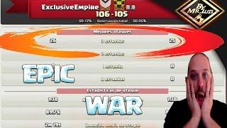 WAR EPICA 51 PLENOS EN TH11 VS TH11 | clash of clans by mr luis