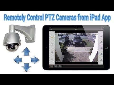 CCTV PTZ Camera Control with iDVR iPad App
