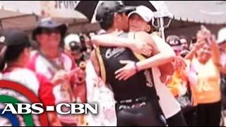 Sarah, niyakap si Matteo sa dulo ng triathlon