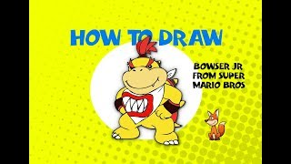 How to draw Bowser Junior from Super Mario Bros - STEP BY STEP GUIDE - ART LESSON SNES ARTE
