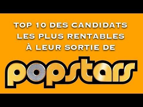 Top 10 des candidats les plus rentables à leur sortie de Popstars