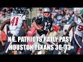 N.E. Patriots Tom Brady Rally Past Houston Texans 36-33