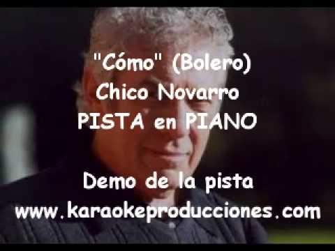 "Chico Novarro  ""Como""  (Piano) DEMO PISTA KARAOKE INSTRUMENTAL"